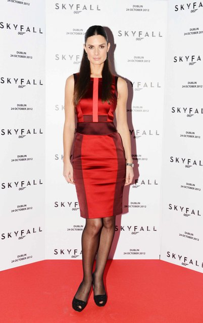NO REPRO FEE. 24/10/2012. Pictured tonight at the Skyfall charity screening at The Savoy Cinema is Alison Canavan. The screening is in aid of 2 Irish charities LARCC and the Irish Cinema Benevolent Fund. A magnum of Bollinger was given to the best dressed man and best dressed woman and attendees enjoyed a Heineken drinks reception in Lillie's Bordello after the screening.Photo: Sasko Lazarov/Photocall Ireland