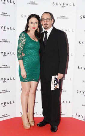 NO REPRO FEE. 24/10/2012. Pictured tonight at the Skyfall charity screening at The Savoy Cinema are Courtney Darby and Tom Pyne. The screening is in aid of 2 Irish charities LARCC and the Irish Cinema Benevolent Fund. A magnum of Bollinger was given to the best dressed man and best dressed woman and attendees enjoyed a Heineken drinks reception in Lillie's Bordello after the screening.Photo: Sasko Lazarov/Photocall Ireland