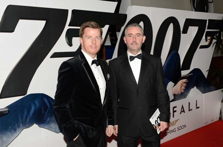 NO REPRO FEE. 24/10/2012. Pictured tonight at the Skyfall charity screening at The Savoy Cinema are (LtoR) Declan Maxwell and Robert Scanlon. The screening is in aid of 2 Irish charities LARCC and the Irish Cinema Benevolent Fund. A magnum of Bollinger was given to the best dressed man and best dressed woman and attendees enjoyed a Heineken drinks reception in Lillie's Bordello after the screening.Photo: Sasko Lazarov/Photocall Ireland