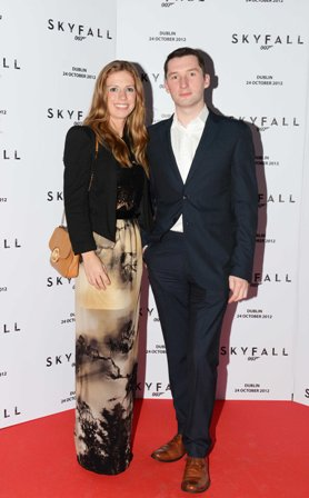 NO REPRO FEE. 24/10/2012. Pictured tonight at the Skyfall charity screening at The Savoy Cinema are (LtoR) Deirdre McCaughey and Tom Stanton.  The screening is in aid of 2 Irish charities LARCC and the Irish Cinema Benevolent Fund. A magnum of Bollinger was given to the best dressed man and best dressed woman and attendees enjoyed a Heineken drinks reception in Lillie's Bordello after the screening.Photo: Sasko Lazarov/Photocall Ireland