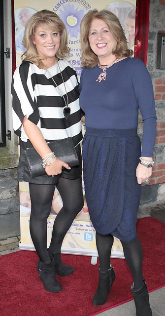 Aideen Whelan and Aileen Gilson pictured at Bressies Charity lunch in aid of Larcc Cancer Support in Brasserie 15 Restaurant in Castleknock 