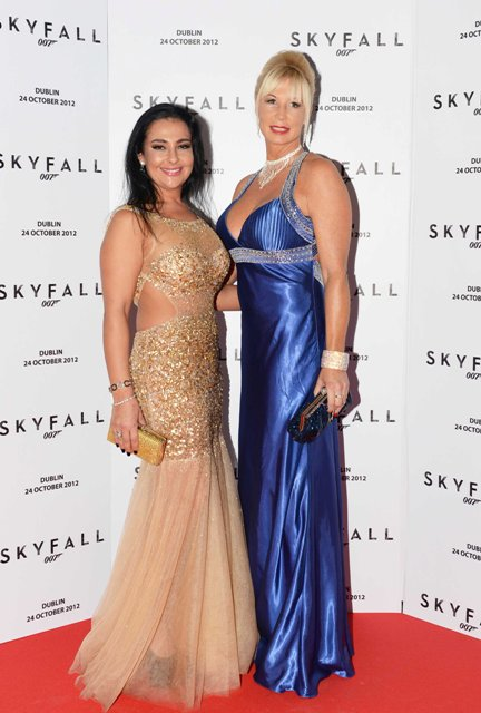 NO REPRO FEE. 24/10/2012. Pictured tonight at the Skyfall charity screening at The Savoy Cinema are (LtoR) Maria Macari and Tara Weston. The screening is in aid of 2 Irish charities LARCC and the Irish Cinema Benevolent Fund. A magnum of Bollinger was given to the best dressed man and best dressed woman and attendees enjoyed a Heineken drinks reception in Lillie's Bordello after the screening.Photo: Sasko Lazarov/Photocall Ireland