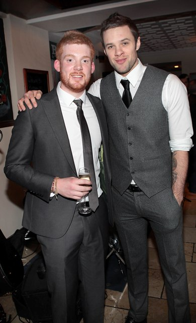 Pat Byrne and Niall Breslin  pictured at Bressies Charity lunch in aid of Larcc Cancer Support in Brasserie 15 Restaurant in Castleknock Pic Brian McEvoy