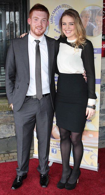 Pat Byrne and Eliza  McLaughlin at Bressies Charity lunch in aid of Larcc Cancer Support in Brasserie 15 Restaurant in Castleknock Pic Brian McEvoy