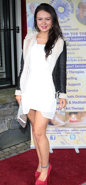 Ciara Lynnott pictured at Bressies Charity lunch in aid of Larcc Cancer Support in Brasserie 15 Restaurant in Castleknock Pic Brian McEvoy