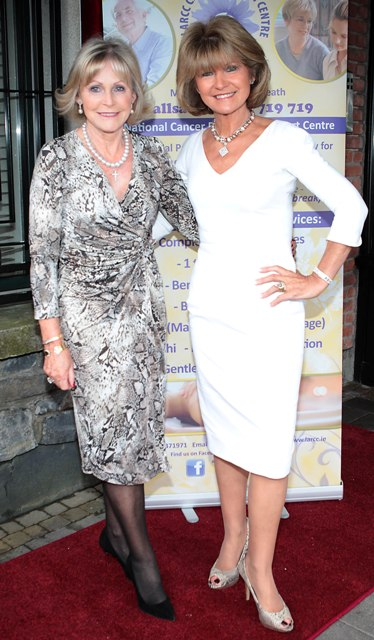 Mary Dunne and Monica Gunnigle pictured at Bressies Charity lunch in aid of Larcc Cancer Support in Brasserie 15 Restaurant in Castleknock Pic Brian McEvoy