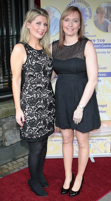 Susan Kiernan and Trisha Burford pictured at Bressies Charity lunch in aid of Larcc Cancer Support in Brasserie 15 Restaurant in Castleknock Pic Brian McEvoy
