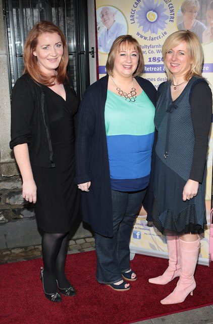 Tara Hammond,Aoife Ryan and Yvonne Carty pictured at Bressies Charity lunch in aid of Larcc Cancer Support in Brasserie 15 Restaurant in Castleknock 
