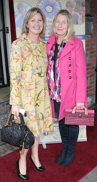 Kay Coughlan and Rosaline Higgins pictured at Bressies Charity lunch in aid of Larcc Cancer Support in Brasserie 15 Restaurant in Castleknock Pic Brian McEvoy