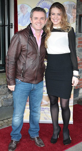 Larry Bass and Eliza McLaughlin pictured at Bressies Charity lunch in aid of Larcc Cancer Support in Brasserie 15 Restaurant in Castleknock Pic Brian McEvoy