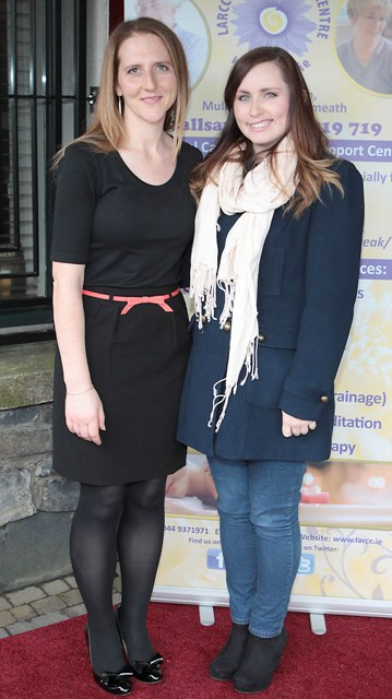 Ailbhe Maher and Catherine Nealon pictured at Bressies Charity lunch in aid of Larcc Cancer Support in Brasserie 15 Restaurant in Castleknock 