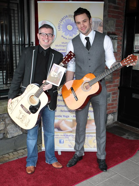Garret Gunnigle and Niall Breslin pictured at Bressies Charity lunch in aid of Larcc Cancer Support in Brasserie 15 Restaurant in Castleknock Pic Brian McEvoy