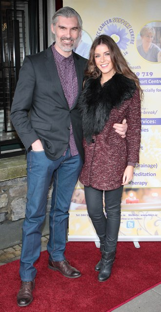 Gareth Downey and Ciara Walsh pictured at Bressies Charity lunch in aid of Larcc Cancer Support in Brasserie 15 Restaurant in Castleknock Pic Brian McEvoy