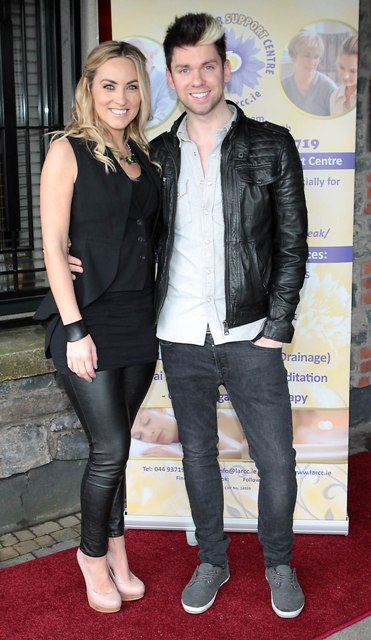 Kathryn Thomas and Eoghan McDermott  pictured at Bressies Charity lunch in aid of Larcc Cancer Support in Brasserie 15 Restaurant in Castleknock Pic Brian McEvoy-no repro fee for one usefor more info call Gareth Gunnigle- 086 8072694