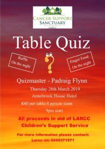 LARCC Table Quiz 2019