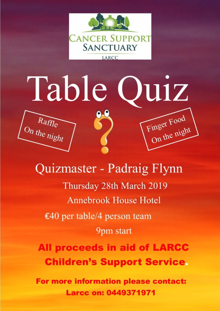 LARCC Table Quiz 2019